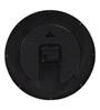 @ Home Black Plastic 12 x 2.3 x 12 Inch Pendulum Wall Clock