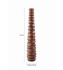 @ Home Brown Rosewood Swirl H80 Vase