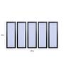 999Store Fibre 59 x 0.8 x 30 Inch Abstract Circles Framed Art Panels - Set of 5