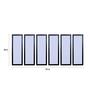 999Store Fibre 70 x 0.8 x 30 Inch Trees Facing Sky Framed Art Panels - Set of 6
