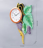 999Store Multicolour Wooden 14 x 1 x 20.5 Inch Royal Hand Crafted Grapes Leaves Clock