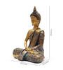 Aapno Rajasthan Gold Resin Fabulous Praying Buddha Idol Showpiece