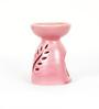 Aapno Rajasthan Red Ceramic Two in One Oil Burner & Tea Light Holder
