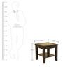 Abby Glass Top Veneer End Table in Dark Brown Colour by HomeTown