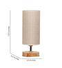 Adan Table Lamp in Brown by CasaCraft