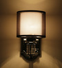 San Pio Wall Light in Black by CasaCraft