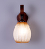 Athena Wall Light in Brown & White by CasaCraft