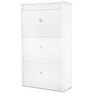 Alder Shoe Rack in White High Gloss Finish by HomeTown