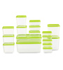 All Time Polka Green Rectangle Storage Container - Set of 17