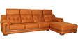 Amber LHS Sofa in Subtle Ochre Leatherette by Sofab