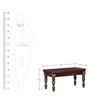 Ambrose Bench in Provincial Teak Finish by Amberville