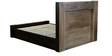 Anahi Queen Bed with Storage in Natural and Americano Finish by CasaCraft
