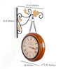 Anantaran Antiques Wall Clock Double Sided Chain Station Clock