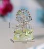 Anasa Multicolour Crystal Ganesh God Idol with Flute