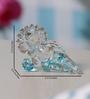 Anasa Multicolour Crystal Singhasan Ganesha God Idol