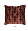 Anna Simona Dark Brown Cotton 16 x 16 Inch Cushion Cover