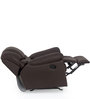Ariana One Seater Recliner Sofa in Brown Colour by CasaCraft