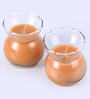 Aroma India Sandalwood Clear Pot Scented Candle - Set of 2