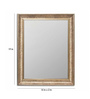 Art Street Copper Synthetic Wood Theresia Cave Wall Mirror