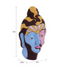Art Tantra Multicolour Resin with Acrylic Paint Pop Art Style Mask