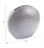 Artelier Silver Ceramic Round Vase