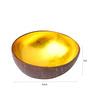 Asian Artisans Vietnamese Yellow Bamboo and Lacquer Bowl