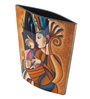 Asian Artisans Multicolour Wooden Lacquer Picasso with Girls Face Vase