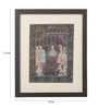 Asian Artisans Paper 11.5 x 9.5 Inch Rajasthani Pichai of Darbar Framed Painting