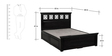 Barryl Queen Bed with Box Storage in Espresso Walnut Finish by Amberville