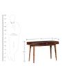 Boyd Dressing Table in Provincial Teak Finish by Woodsworth