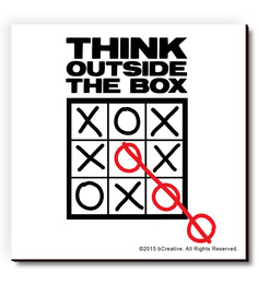 BCreative Multicolour MDF Tic Tac Toe Inspiring Fridge Magnet