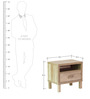 Haruna Bed Side Table in Natural Finish by Mintwud