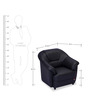 Berry One Seater Sofa in Eerie Black Colour by Durian