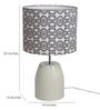 Bespoke Black & White Cotton Humpty Table Lamp