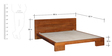 Blaine Queen Bed in Honey Oak Finish by Woodsworth