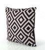 Bombay Dyeing Black & White Cotton 16 x 16 Inch Cushion Cover