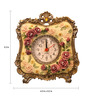 Browse Multicolor Polyresin House Td02 Victorian Roses Table Clock