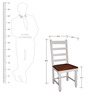 Augusta Dining Chair in Dual Tone Finish by Amberville