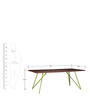 Henday Six Seater Dining Table in Multi-Color by Bohemiana