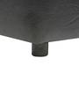 Casa Classico Faux Leatherette Pouffe in Black Colour by SIWA Style