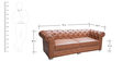 Chesterfield Three Seater Sofa in Brown Colour by Karigar