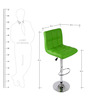 Chex Bar Chair in Green Colour by The Furniture Store
