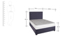 Classic Upholstered Bed with Deep Tufting Details in Blue Colour by Afydecor