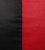 Classic Bean Bag with Beans in Black and Red Colour by Sattva