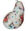 Classic Bean Bag with Beans in Floral Design by Sattva