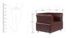 Colar 3 + 1 + 1 Leatherette Sofa Set in Burgandy Colour by Tube Style