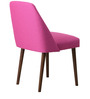 Corfinio Accent Chair (Set of 2) in Pink Color with Cappuccino Legs by CasaCraft