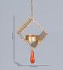 Courtyard Golden Iron Square Jali Hanging Tea Light Holder