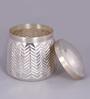 Courtyard Silver Cylindrical 200 ML Small Taj Martaban