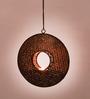 Courtyard Brown Sitara Ring T Light Hanging Large